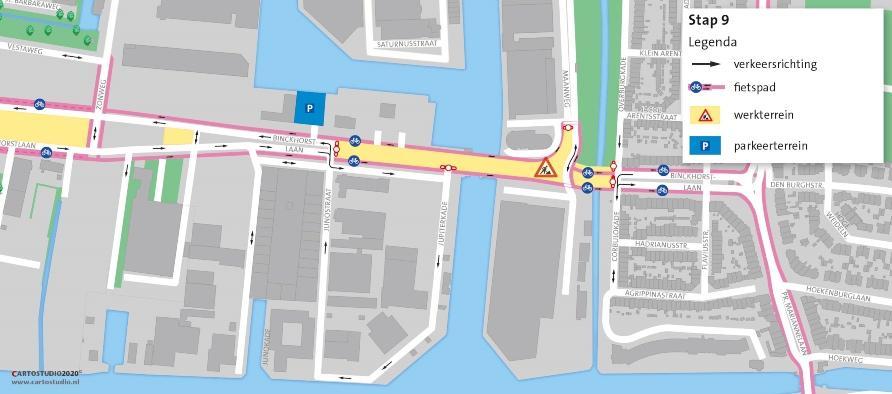 Kruising Binckhorstlaan-Maanweg gesloten