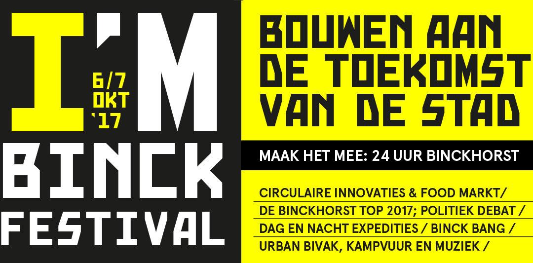 I'M BINCK Festival op 6 oktober 2017