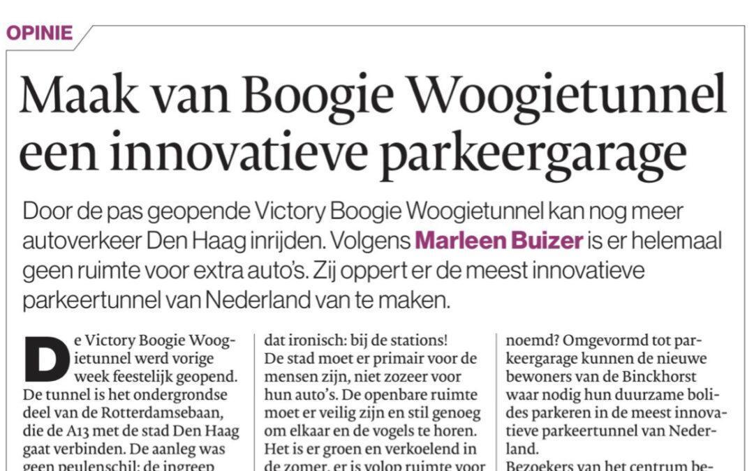 Victory Boogie Woogietunnel de meest innovatieve parkeertunnel van Nederland?
